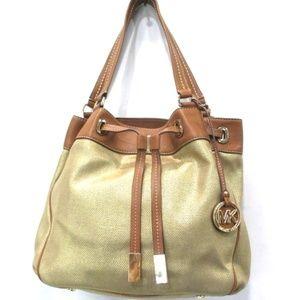 Michael Kors Metallic Gold Marina Bag